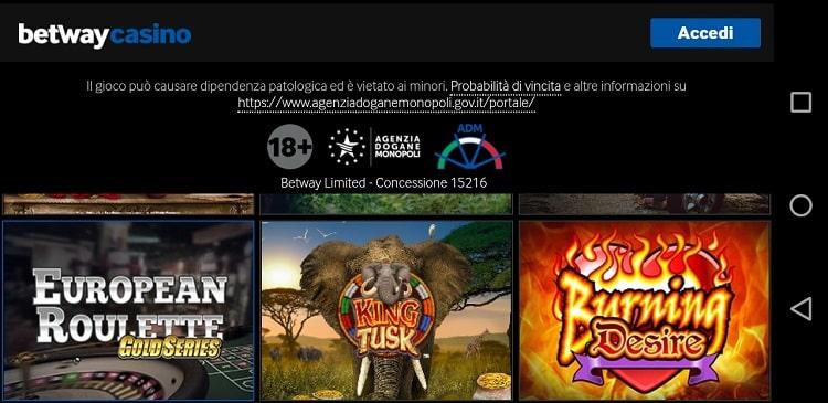 bonus_benvenuto_betway_casino_app_mobile