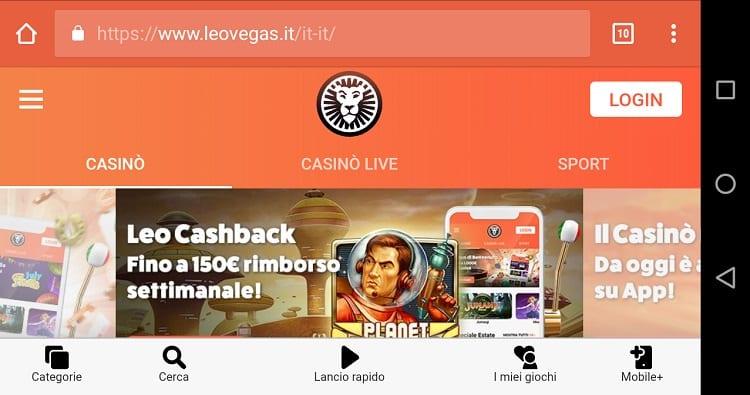 bonus_benvenuto_leovegas_casino_app_mobile