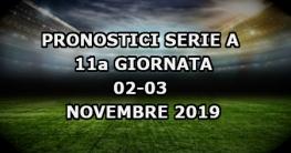 Pronostici Serie A 11a giornata