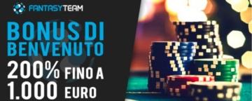 il bonus di benvenuto poker di Fantasyteam