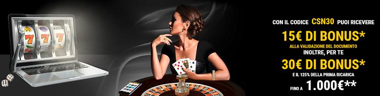 bonus lottomatica casino