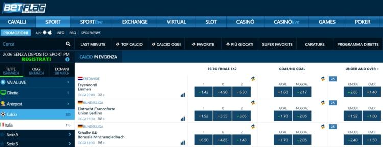 la piattaforma online BetFlag