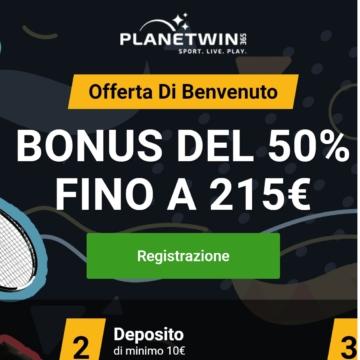 il bonus di benvenuto di planetwin365