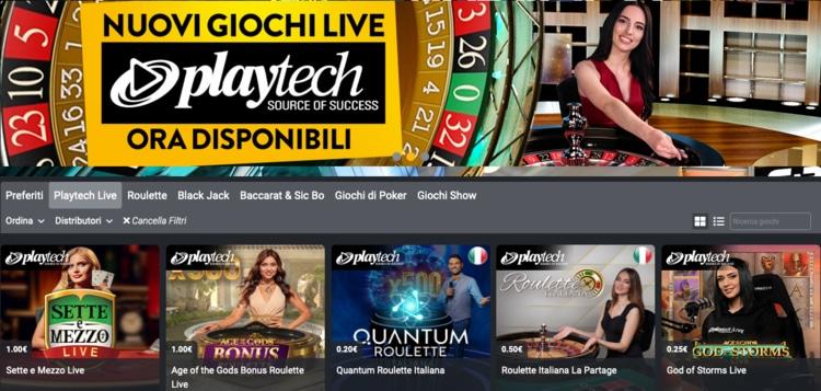 giochi playtech su planetwin365 casino