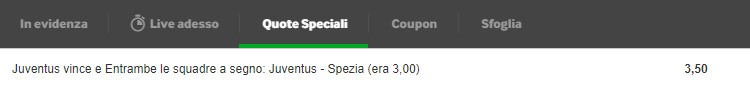 quote maggiorate betway