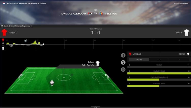 Schermata di un evento live su SportitaliaBet