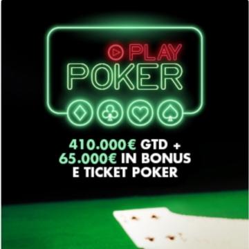 una delle promozioni sul poker online di Lottomatica
