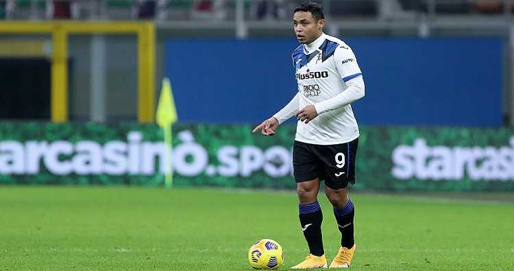 L'attaccante colombiano dell'Atalanta Luis Muriel