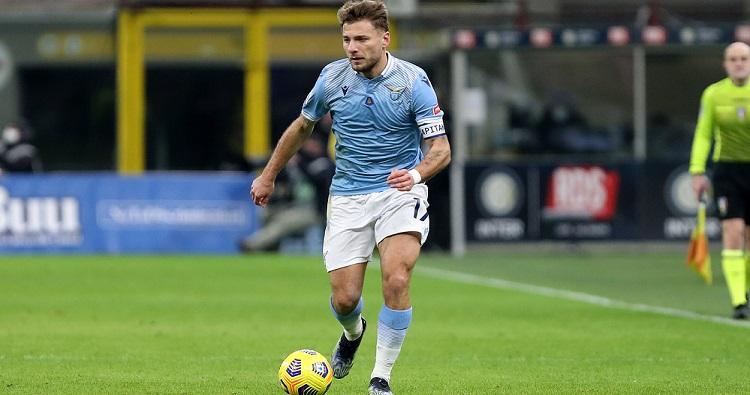 L'attaccante della Lazio Ciro Immobile