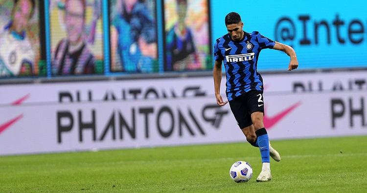 Il centrocampista dell'Inter Achraf Hakimi