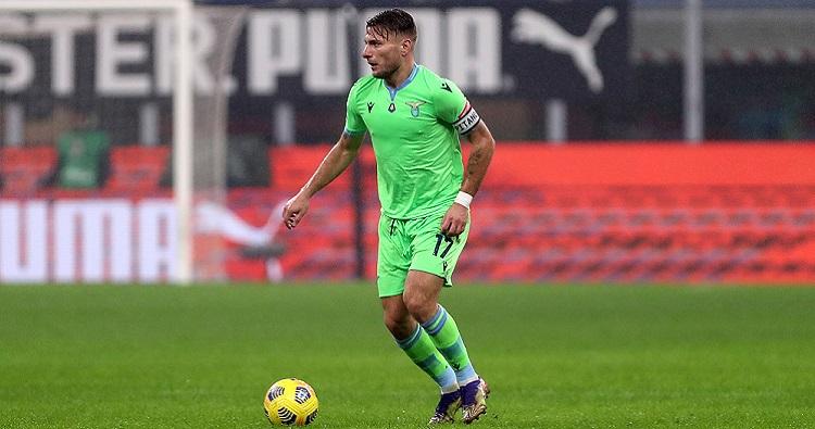 Il capitano della Lazio Ciro Immobile