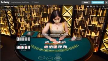 blackjack live su betway casino